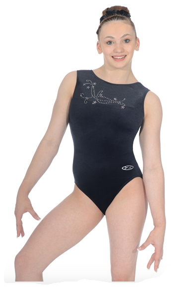 the zone fanfare leotard black