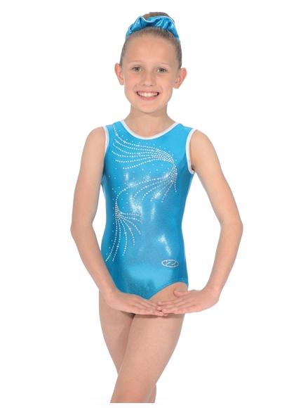 the zone orla leotard kingfisher blue