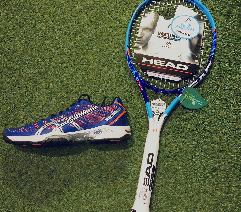 tennis tuesday head graphenxt instinct s and asics gel solution speed