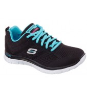 Skechers Flex Appeal Womens Shoe (12058 BKLB, 2015)
