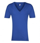 American Apparel®Sheer jersey short sleeve deep v-neck (6456)