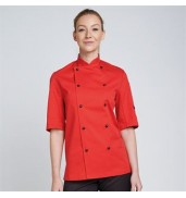 DennysChef's jacket stud button, technicolour short sleeve (DD56S)