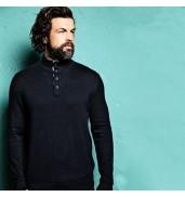 Affordable FashionPrestige - Oxford woven button-up jumper
