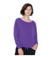 American Apparel®Triblend rib lightweight raglan pullover (BR394)