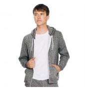 American Apparel®Salt and pepper zip hoodie (MT497)