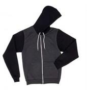American Apparel®Two-tone flex fleece zip hoodie (F497)