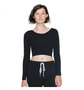 American Apparel®Long sleeve cotton Spandex Jersey crop top (8379)
