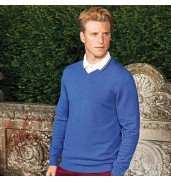 Asquith & FoxMen's cotton blend v-neck sweater