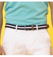 Asquith & FoxTwo colour stripe braid stretch belt