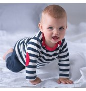 BabybugzBaby stripy long sleeve T (with elbow patches)