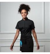 BargearWomen's bar shirt mandarin collar short sleeve