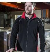 Finden & HalesPiped microfleece jacket