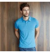 KaribanMelange short sleeve polo shirt