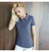 KaribanWomen's melange short sleeve polo shirt