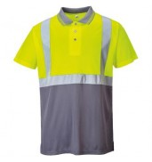 PortwestHi-vis two-tone polo shirt (S479)