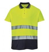 PortwestHi-vis two-tone cotton comfort polo shirt (S174)