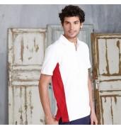 KaribanFlags short sleeve bi-colour polo shirt