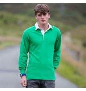 Front RowLong sleeve plain rugby shirt