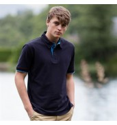 Front RowContrast piqué polo shirt