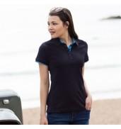Front RowWomen's contrast piqué polo shirt