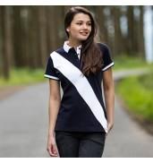 Front RowWomen's diagonal stripe piqué polo shirt - tag-free
