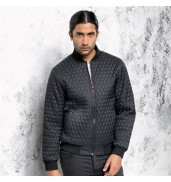 2786Quilted flight jacket