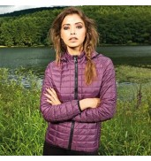 2786Women's honeycomb hooded jacket