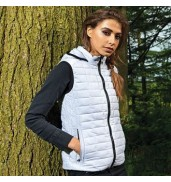 2786Women's honeycomb hooded gilet