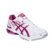 Asics Gel Netburner Super 4 White/Pink Netball shoes