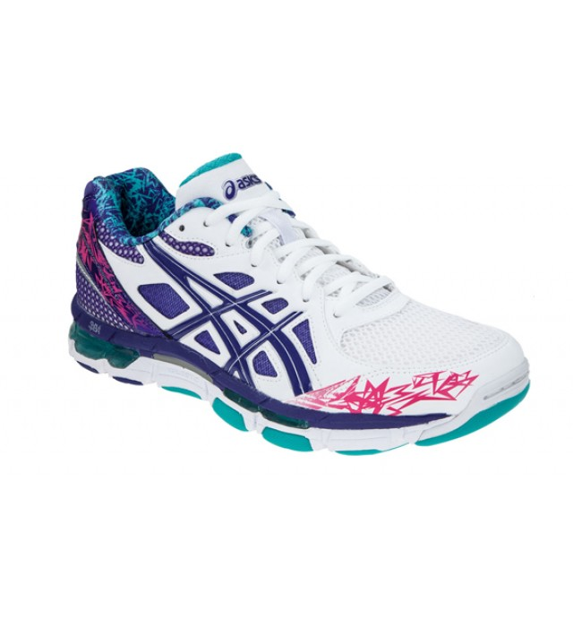 asics pink netball trainers