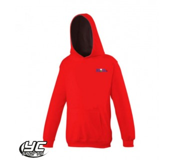 Tennis Wales SOUTH Hoodie Fire Red/ Jet BlacK