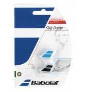Babolat Flag Racket Vibration Dampener 2-in-a-Pack (Black/Blue, 2015)