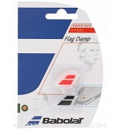 Babolat Flag Racket Vibration Dampener 2-in-a-Pack (Black/Fluo Red, 2015)