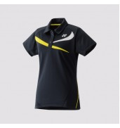 Yonex 20240 Ladies Polo Shirt (Black/Yellow, 2015)