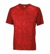 Wilson Mens Solano Geo V Neck Red T Shirt