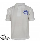Coed Glas White Polo