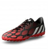 Adidas Absolado Instinct Junior Astro Turf Shoes Black/Red