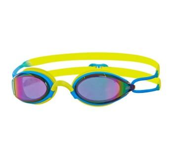 Zoggs Podium Titanium Goggles Blue/Lime/Mirror