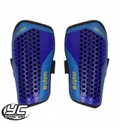 Mitre Aircell Carbon Slip Shinguard (Blue/Cyan/Yellow)