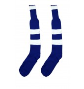 Hoop Football Sock Royal/White