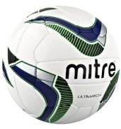 Mitre Ultimatch Match Football (White/Navy)