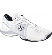 Wilson NVISION Mens Tennis Shoe (White/Pearl Gray/Coal, 2015)