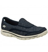 Skechers GOwalk 2 Super Sock Womens Shoe (13955 NVGY, 2015)
