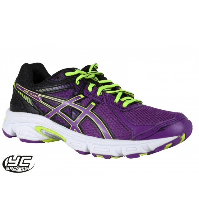 e96f2519f6a3 ASICS Gel Ikaia 5 Womens Running Shoe (3790 Grape Black Flash Yellow ...