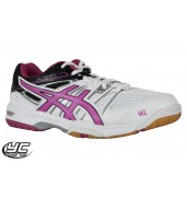 ASICS Gel Rocket 7 Womens Court Shoe (0125) White/Magenta