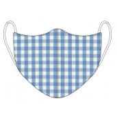 Gingham Face Mask Blue Gingham