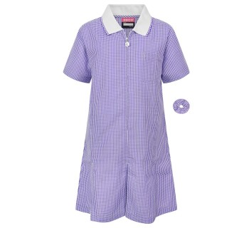 Zeco Gingham Dress PURPLE