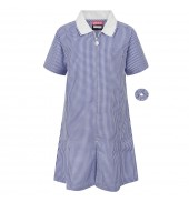 Zeco Gingham Dress NAVY