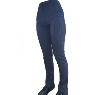 LIM Mid Rise Navy Pinstripe Trouser