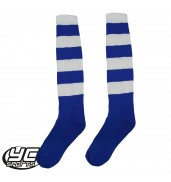 Mitre Prostar Mercury Hoop Football Sock (Royal/White)